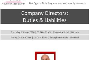 Seminar – Company Directors: Duties & Liabilities