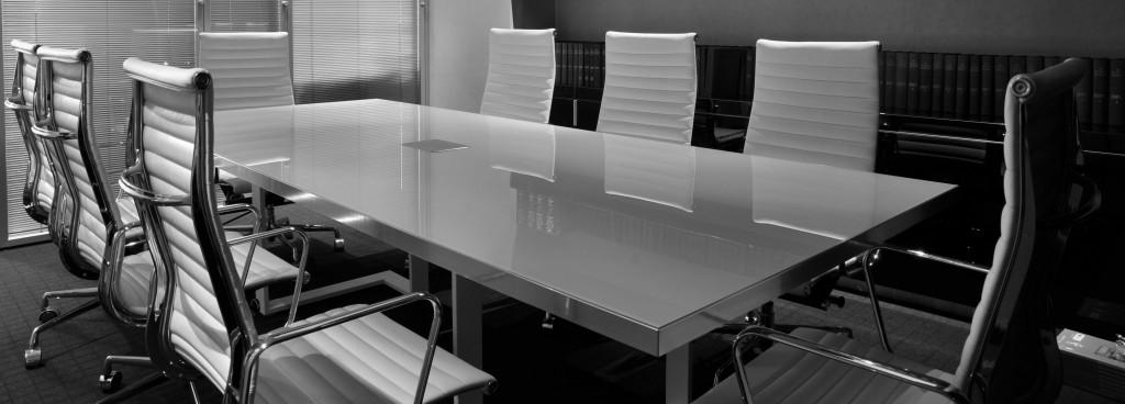 Conference Room Desk Black & White